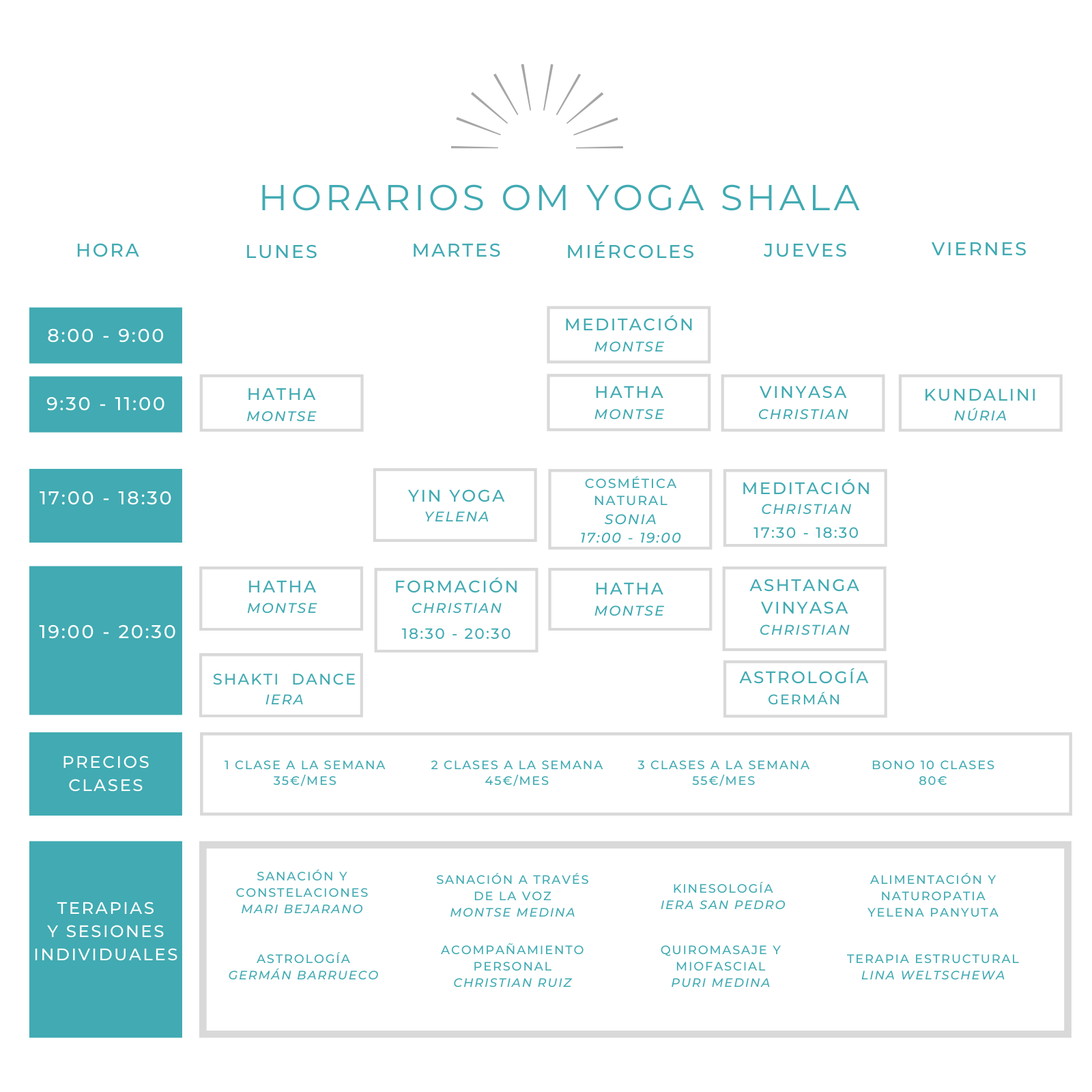 yoga gava horarios
